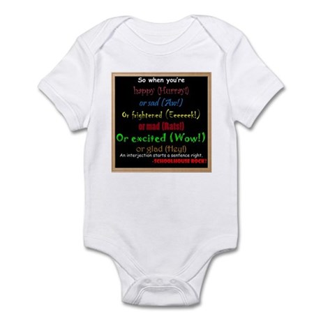 SchoolhouseRockTV Interjections Infant Bodysuit