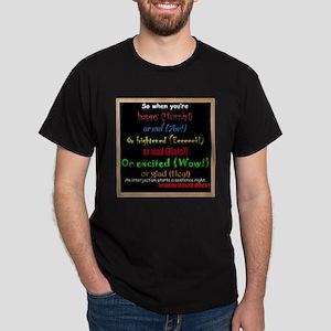 SchoolhouseRockTV Interjections Dark T-Shirt