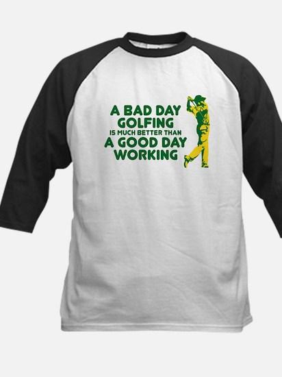 A Bad Day Golfing Kids Baseball Jersey
