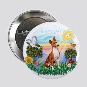"Happy Day Basenji 2.25"" Button"