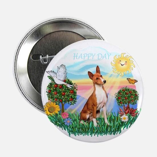 "Happy Day Basenji 2.25"" Button"
