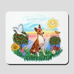 Happy Day Basenji Mousepad