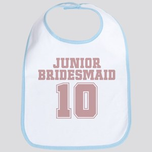 Pink Junior Bridesmaid 10 Bib
