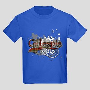 Gillespie Tartan Grunge Kids Dark T-Shirt