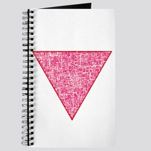 Vintage Pink Triangle Journal