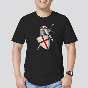 Shield of Saint George Men's Fitted T-Shirt (dark)