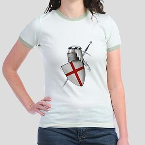 Shield of Saint George Jr. Ringer T-Shirt