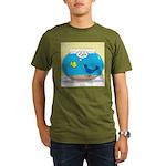 Bird in a Fishbowl Organic Men's T-Shirt (dark)