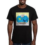 Bird in a Fishbowl Men's Fitted T-Shirt (dark)
