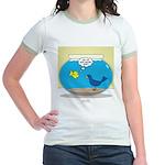 Bird in a Fishbowl Jr. Ringer T-Shirt