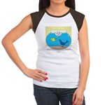 Bird in a Fishbowl Junior's Cap Sleeve T-Shirt