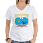 Bird in a Fishbowl Women's V-Neck T-Shirt