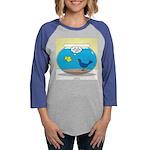 Bird in a Fishbowl Womens Baseball Tee