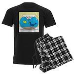 Bird in a Fishbowl Men's Dark Pajamas