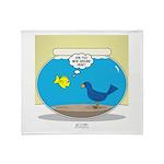 Bird in a Fishbowl Throw Blanket