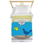 Bird in a Fishbowl Twin Duvet Cover