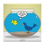 Bird in a Fishbowl Tile Coaster