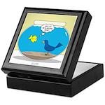 Bird in a Fishbowl Keepsake Box