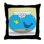 Bird in a Fishbowl Throw Pillow