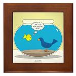 Bird in a Fishbowl Framed Tile