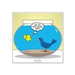Bird in a Fishbowl Square Sticker 3