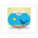 Bird in a Fishbowl Small Poster