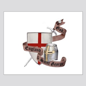 England and Saint George Small Poster