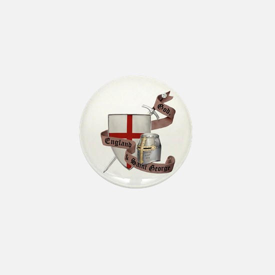 England and Saint George Mini Button