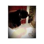 Tuxedo Kitty with Sink Throw Blanket