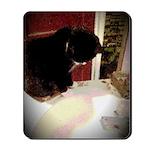 Tuxedo Kitty with Sink Mousepad
