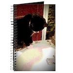 Tuxedo Kitty with Sink Journal