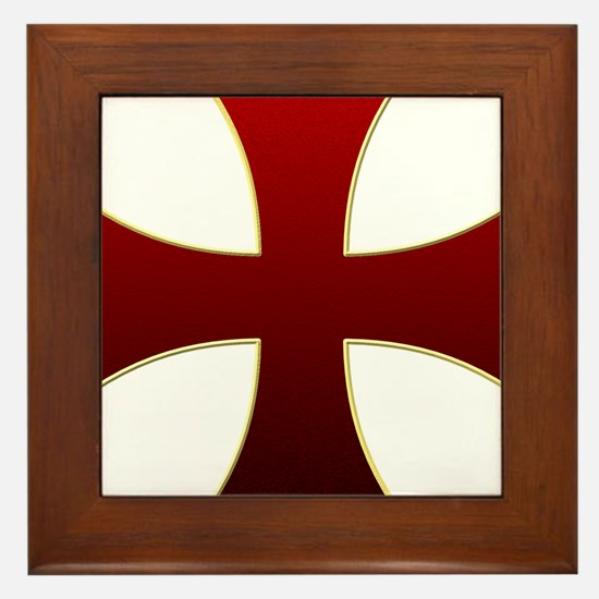 Templar Cross Framed Tile