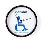 damnit.wheelchair Wall Clock