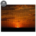 Fiery Prairie Sunset Puzzle