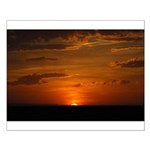 Fiery Prairie Sunset Small Poster