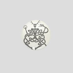 Grey Cernunnos Mini Button