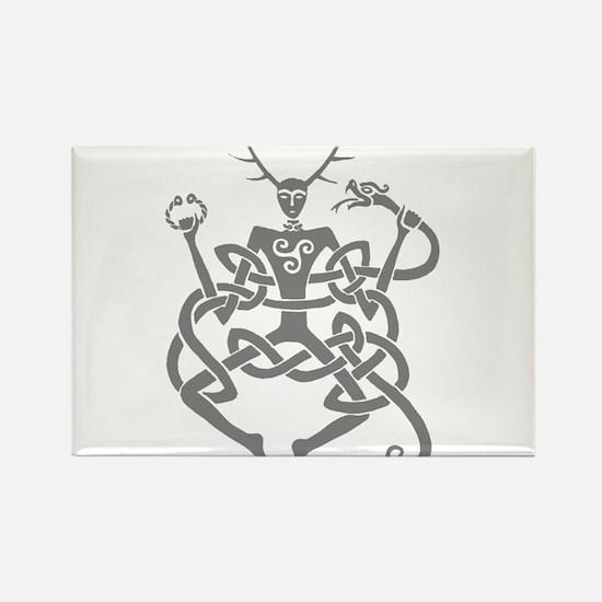 Grey Cernunnos Rectangle Magnet