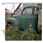 Farm Truck With Flowers Shower Curtain