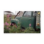 Farm Truck with Flowers Rectangle Car Magnet