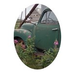 Farm Truck with Flowers Ornament (Oval)