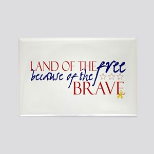 Land of the free ... brave Rectangle Magnet