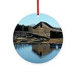 Barn Reflection Ornament (Round)