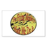 Flying Monkeys Sticker (Rectangle 50 pk)