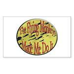 Flying Monkeys Sticker (Rectangle 10 pk)