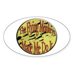 Flying Monkeys Sticker (Oval 50 pk)