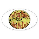 Flying Monkeys Sticker (Oval 10 pk)