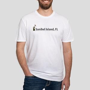 Sanibel Island - Pelican Fitted T-Shirt
