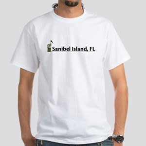 Sanibel Island - Pelican White T-Shirt