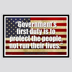 REAGAN: Government's first duty... QUOTE Large Pos