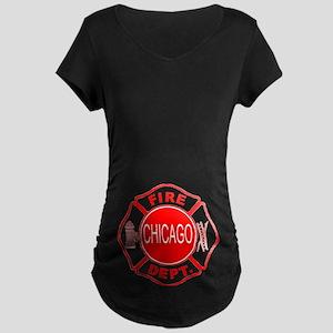 Chicago Firedepartment Maternity Dark T-Shirt